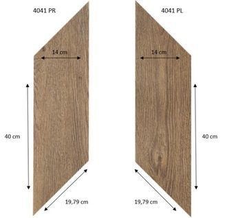Forbo Effekta Professional 4041 PR-PL Classic Fine Oak (ромб левый, правый 140*400*19,79 мм)