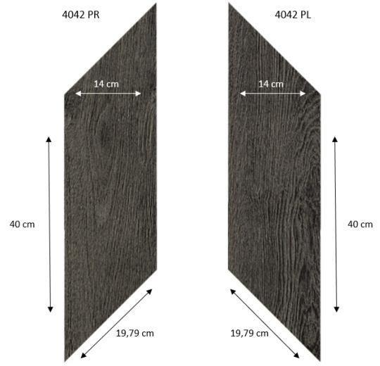 Forbo Effekta Professional 4042 PR-PL Classic Fine Oak (ромб левый, правый 140*400*19,79 мм)