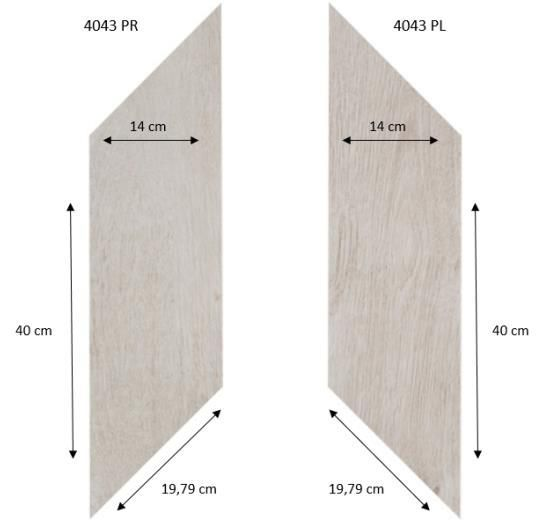 Forbo Effekta Professional 4043 PR-PL Classic Fine Oak (ромб левый, правый 140*400*19,79 мм)